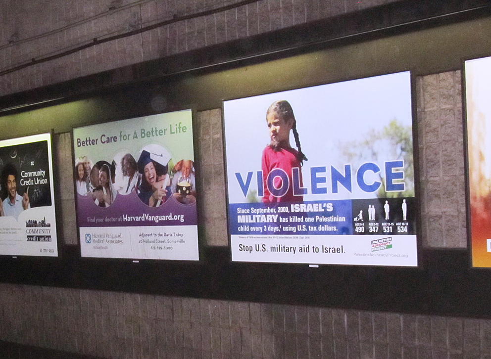 The ad will be displayed in Davis Square Station during the month of November.