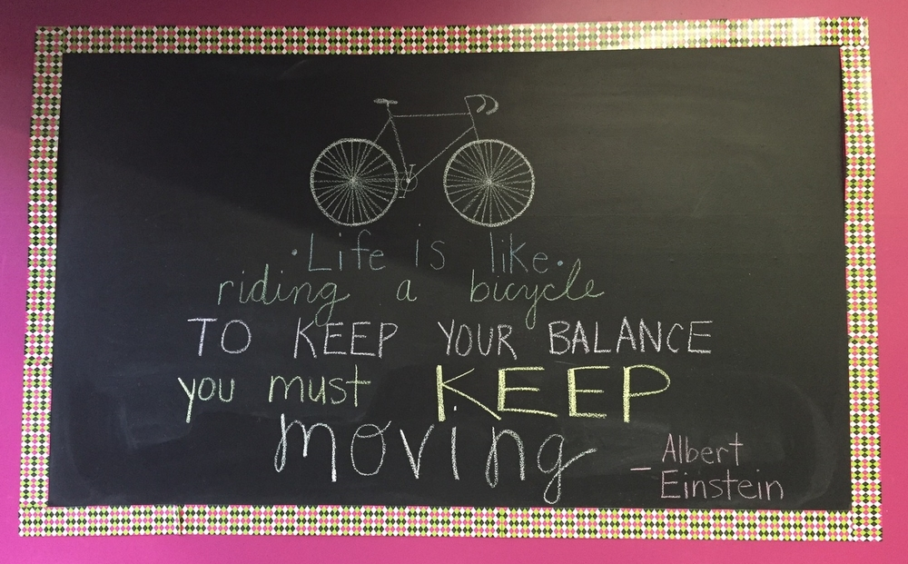 My turn with my school's quote wall!