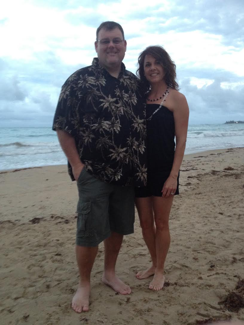 Puerto Rico with the hubby, 2012. A little while later my blood sugar level went cray to the zay.