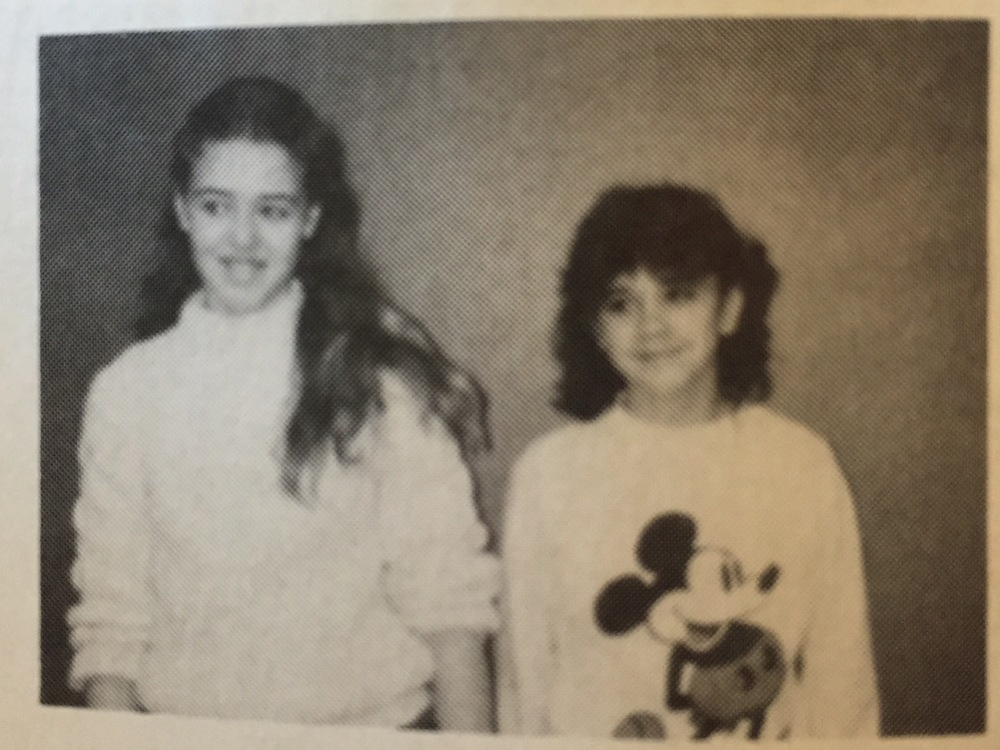 The 6th grade speech writers, 1986.
