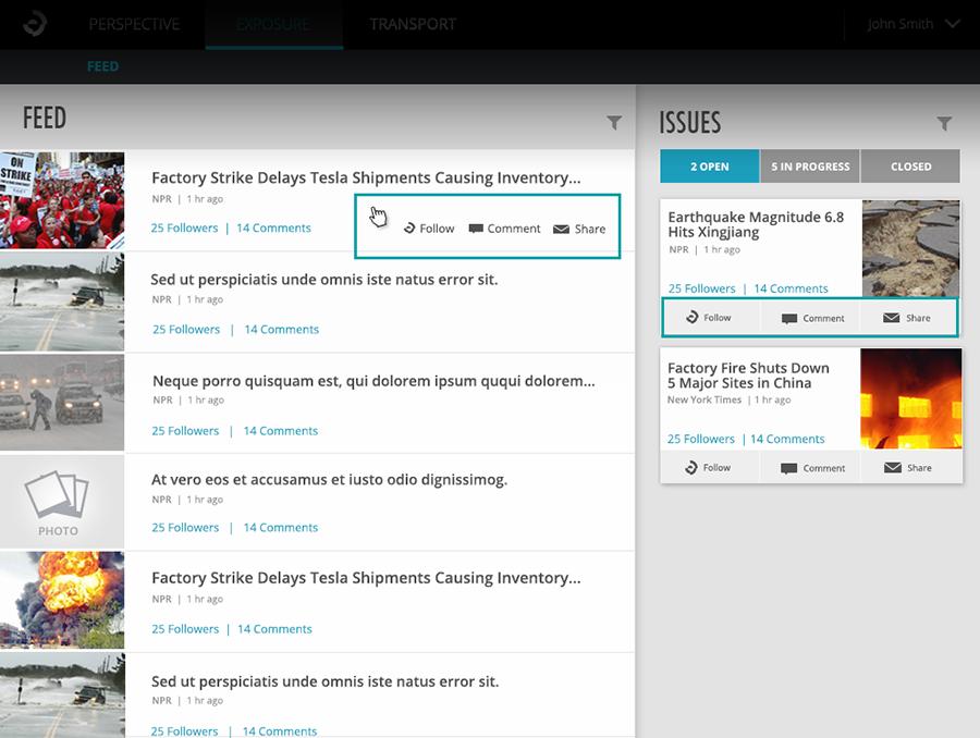 Reusable Social Component (Exposure app)