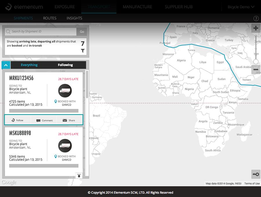 Reusable Social Component (Transport app)