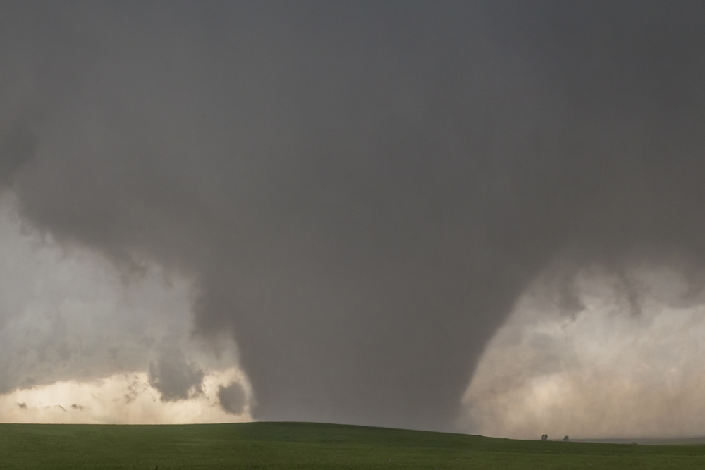 Massive wedge tornado outside of Bennington, Kansas on May 28, 2013