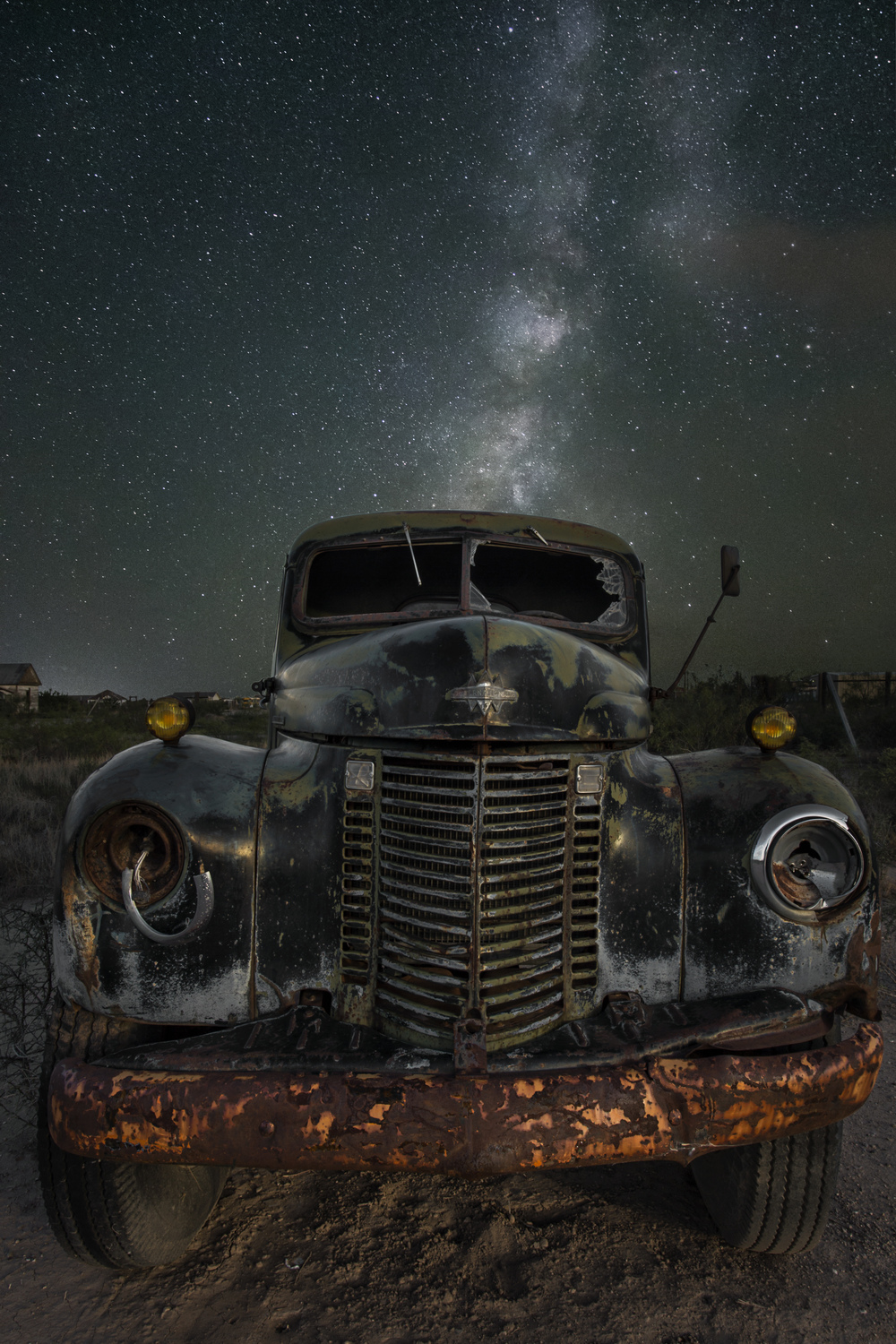 Abandoned 1947 International. Toyah, Texas