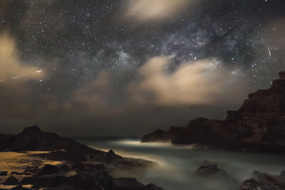 Milky Way over Halona Beach, Hawaii