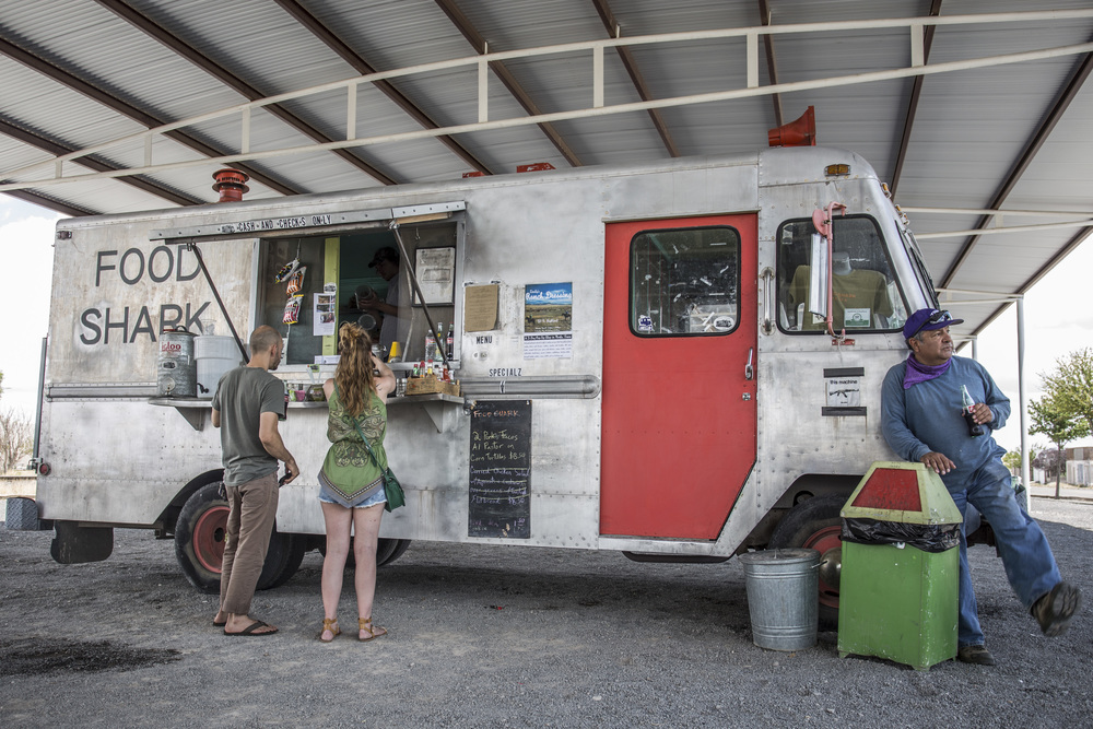Food Shark Truck, downtown Marfa. Image by Jason Weingart