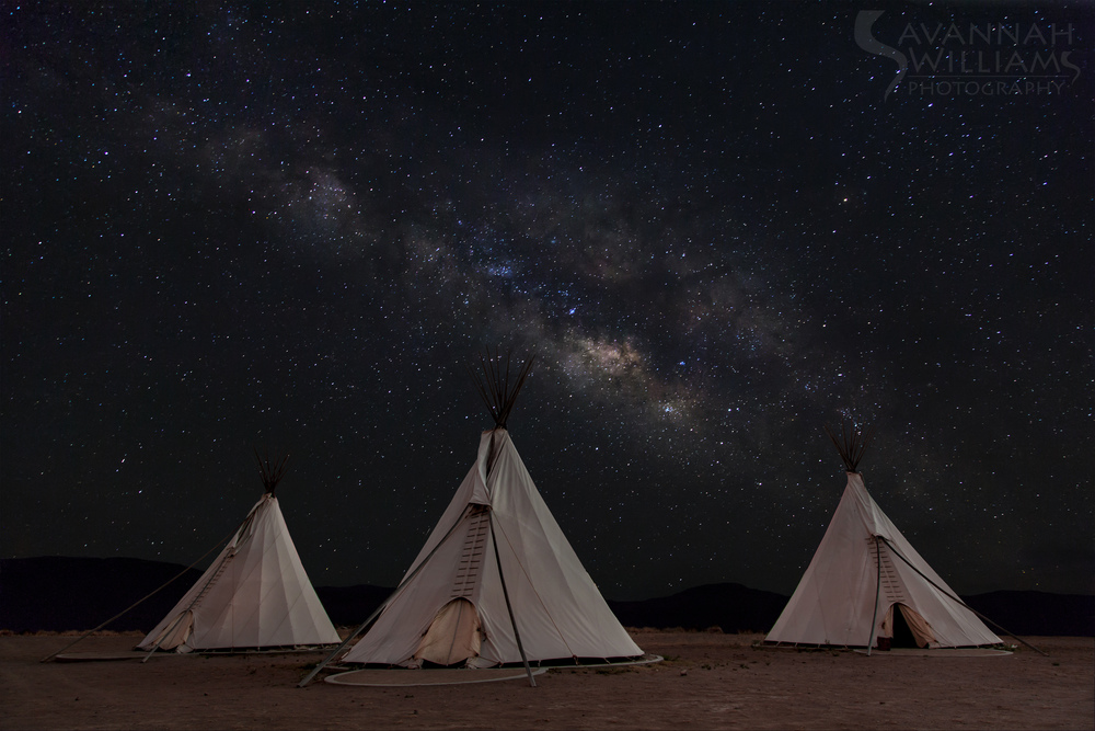 El Cosmico under the Milky Way by Savannah Williams