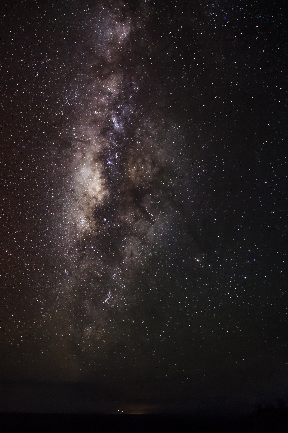 The galactic core of the Milky Way high in the skies above Big Island, Hawaii