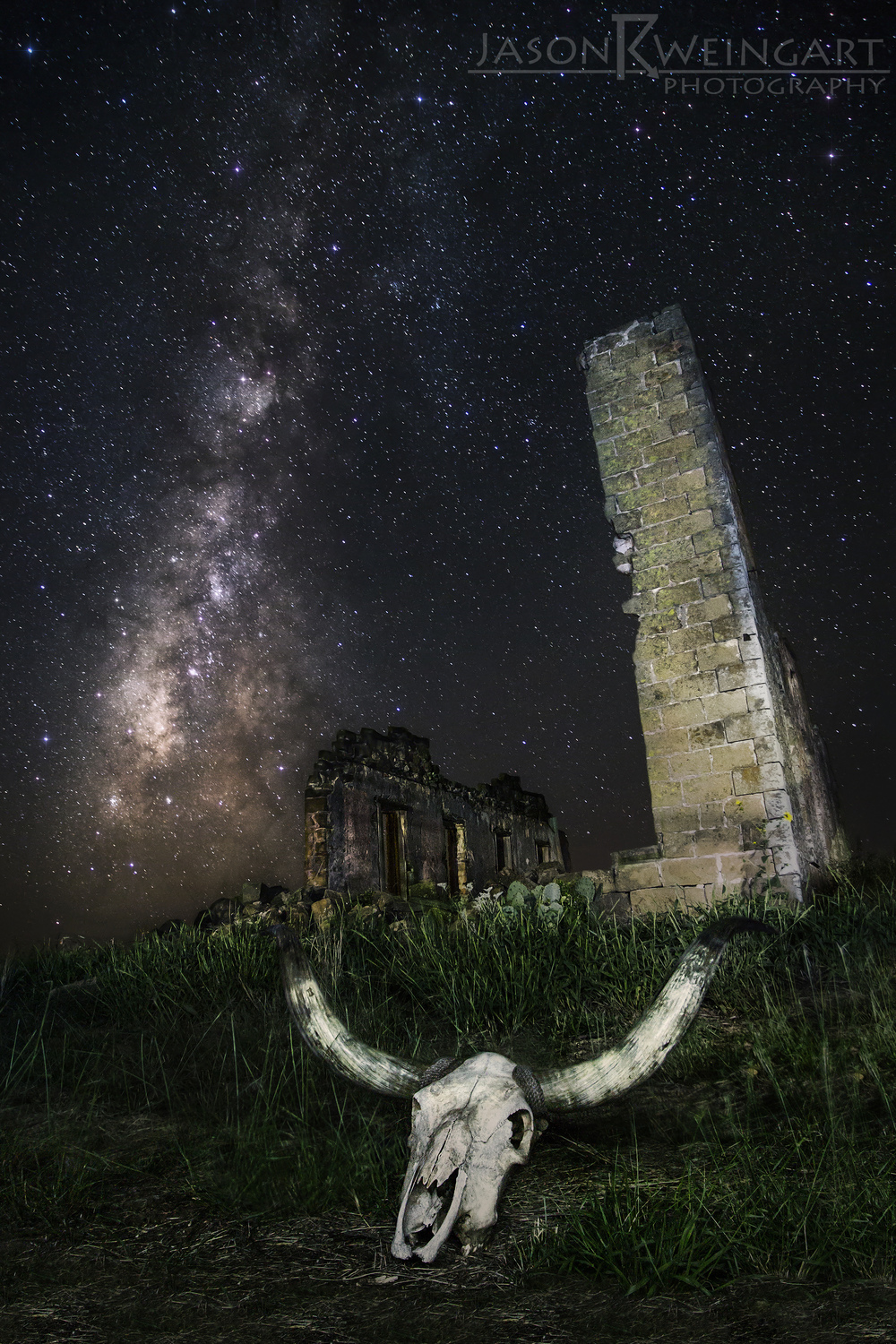 The ruins of the San Fernando Academy under the Milky Way. Shot on September 30, 2013.