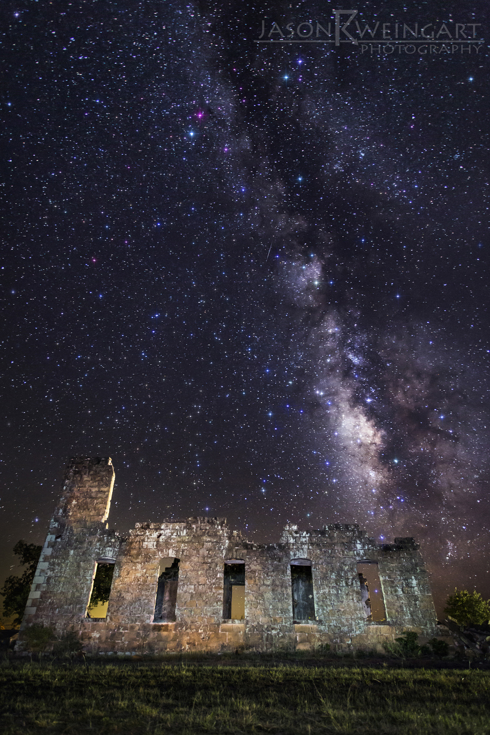 The ruins of the San Fernando Academy under the Milky Way. Shot on September 22, 2013