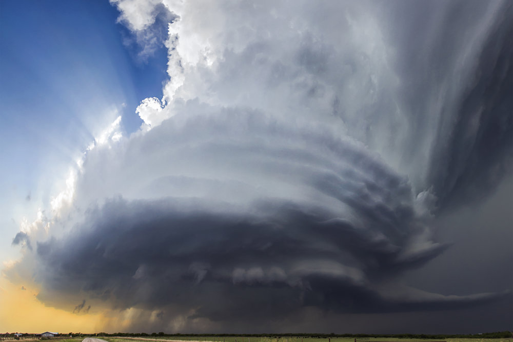 We will see incredible supercell thunderstorm structure like this mesocyclone near Henrietta, Texas.