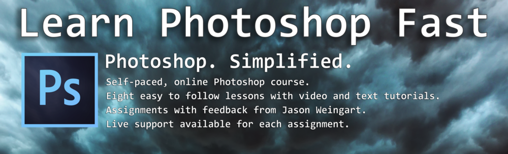 Photoshop. Simplified. Fast easy video text tutorials online course class free