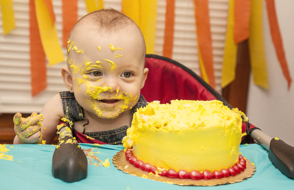 Our daughter, Emerald's first birthday.