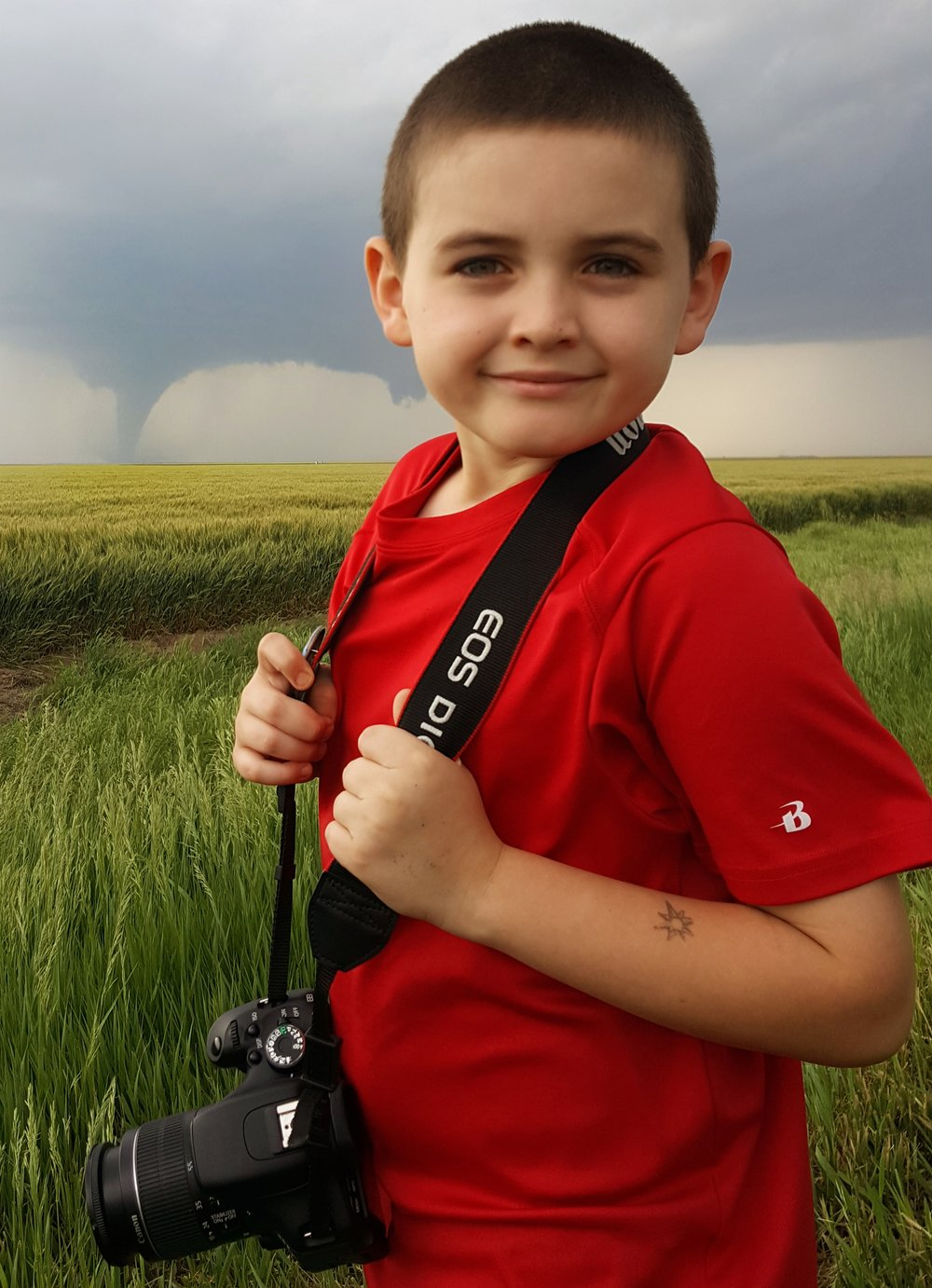 Chase witnessed several tornadoes as a cyclic supercell moved through Kansas on May 24, 2016.  Image by Savannah Weingart