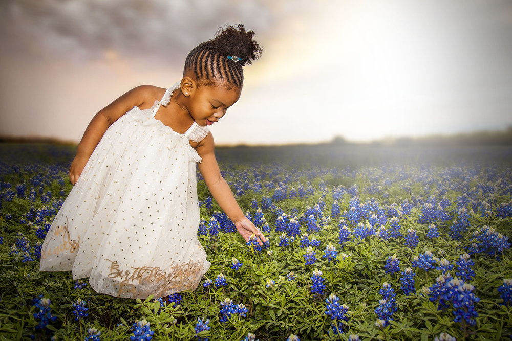 I shot a ton of portraits in the bluebonnets too.