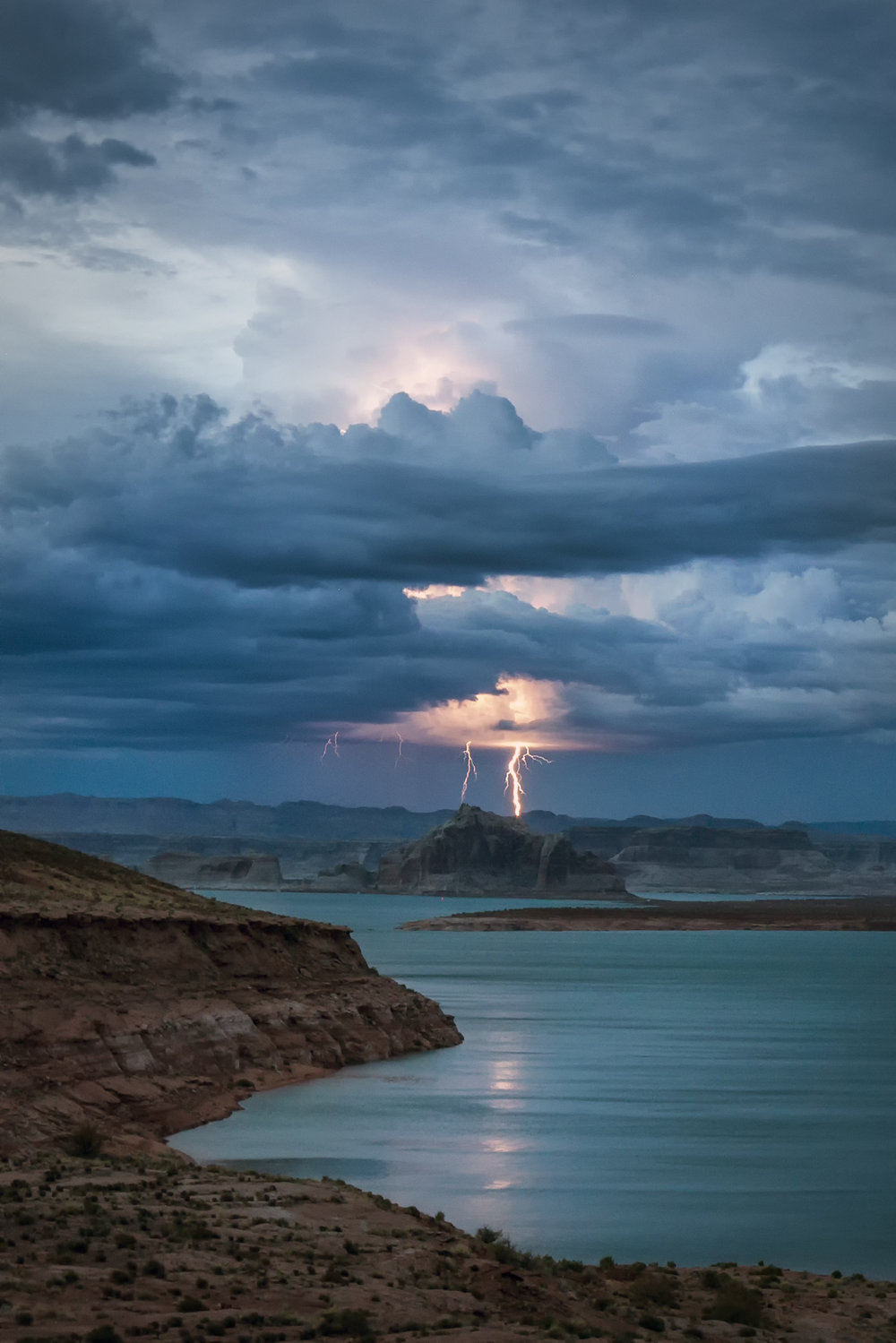 Distant Thunderstorm - Lake Powell, Arizona July 29, 2017.jpg