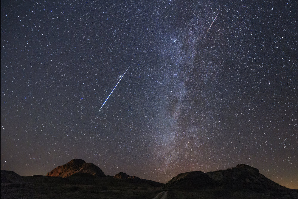 perseid geminid photography meteor shower workshop