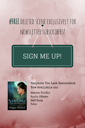 If you've read Sanyare: The Last Descendant, you won't want to miss this exclusive deleted scene from Daenor's perspective. Your free copy is waiting, just sign up for my newsletter!