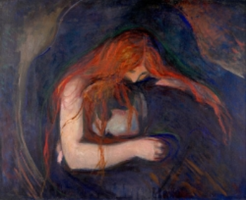 Vampyren by Edvard Munch