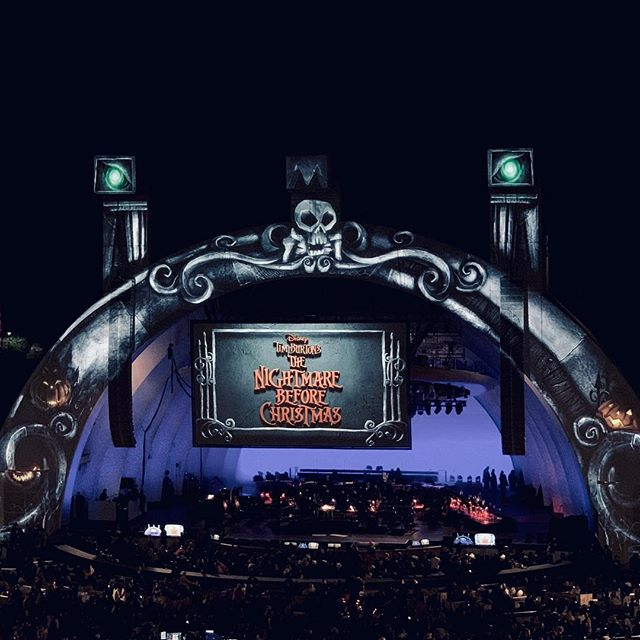 The nightmare before christmas @ The Hollywood bowl,  3 days till Halloween! Danny Elfman is awesome.    #nightmarebeforechristmas #halloween #chingon
