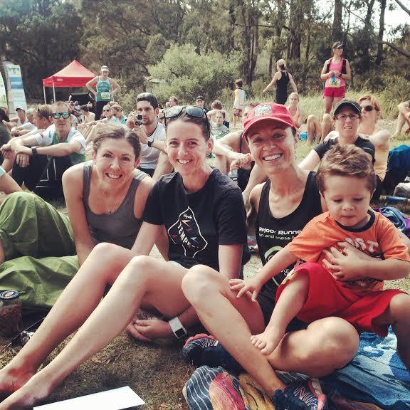 Top 3 girls in the 20k sydney trail race - Emma Rilen, Jo Brischetto & Greta Truscott
