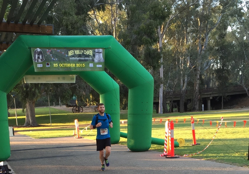 MARCUS VOLZ after smashing his 100k pb in 10.24.53 at the Ned Kelly 100k on 25/10/15