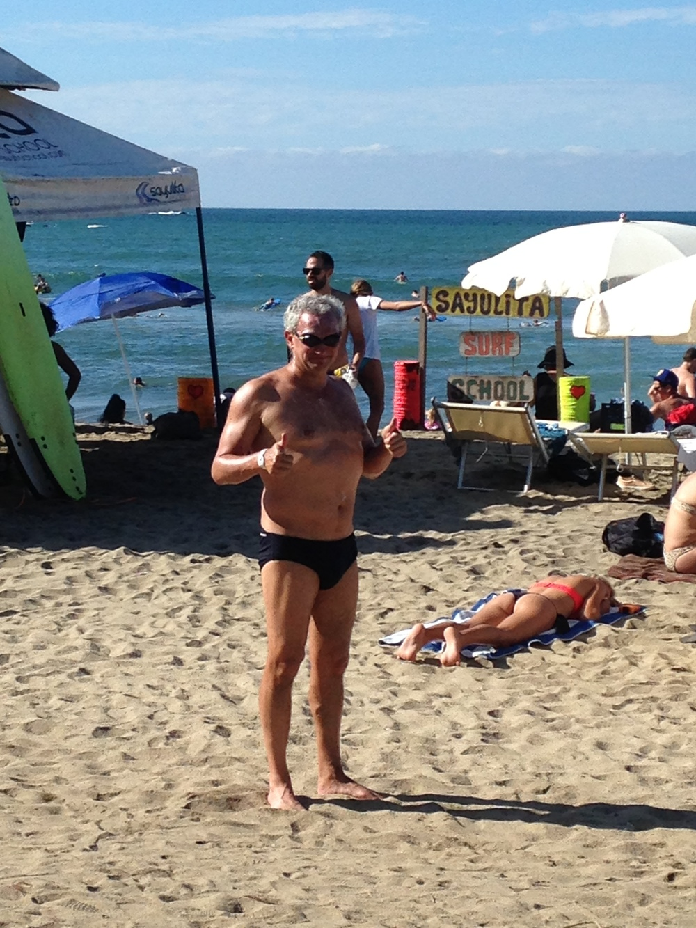 Mitch before a 4k swim in Mexico earlier this year.
