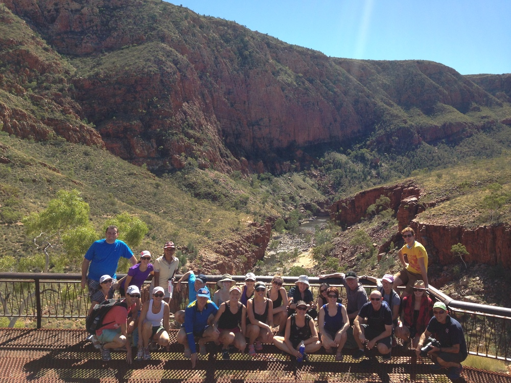 Bush walking and swimming at ormiston gorge, western macdonnell ranges (west of Alice springs) on our way to kings canyon and ayres rock