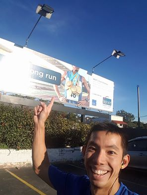 Our friend Keith Hong showing he found Chris on a billboard.. apparently on billboards in Melbourne too lol his head has been chopped in half ;)