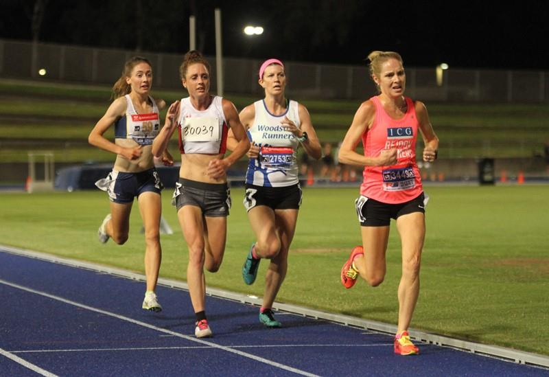 Erika Jordan on her way to a 5k pb 18.01