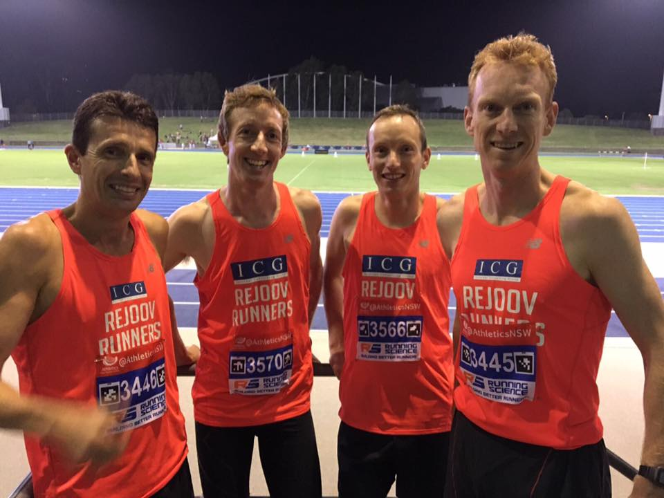 ANSW 10,000m 24/2/17 Chris Truscott, Andy Heyden, Eoin REville, John Bartlett