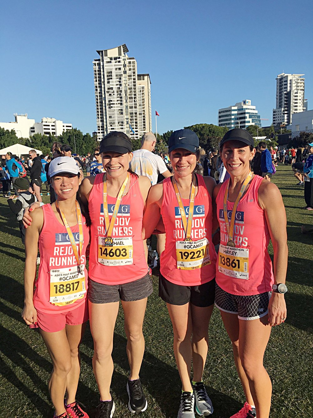 Awesome foursome all with pbs on the gold coast 2017 - from left to right floriana dua, rachael honeywood, kate agnew, hayley kain
