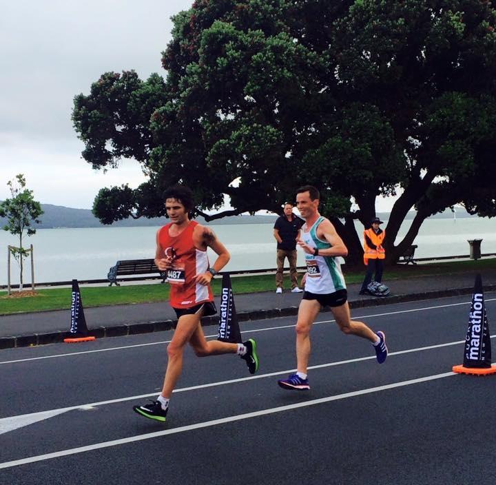 Robin vonk in auckland marathon 2.43