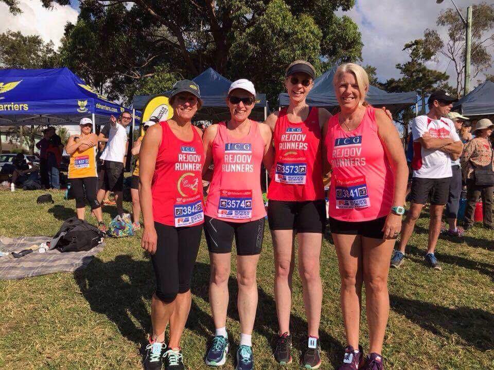 Miranda relays over 45s - go girls!