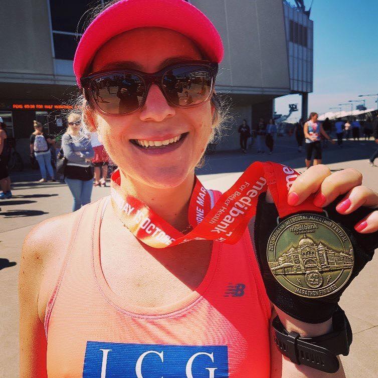 Lesley Mason PB 4.29 marathon