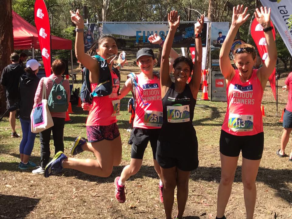 Rejoov Zebras jumping for joy at the Sydney Trail Series
