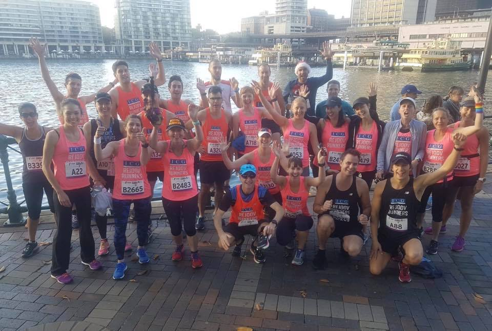 Sydney harbour 10k 29/7/18 before the race start - what a good looking gang!
