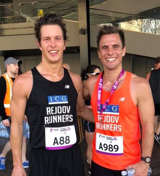 Hamish mcmaster 34.45pb sydney harbour 10k 2018 with comrade spartan champion Brendan hunt!!