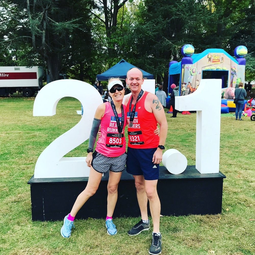 Lisa & Grant Sherman - Canberra Running Festival April 2018