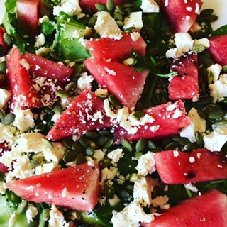Watermelon salad - a hydrating meal