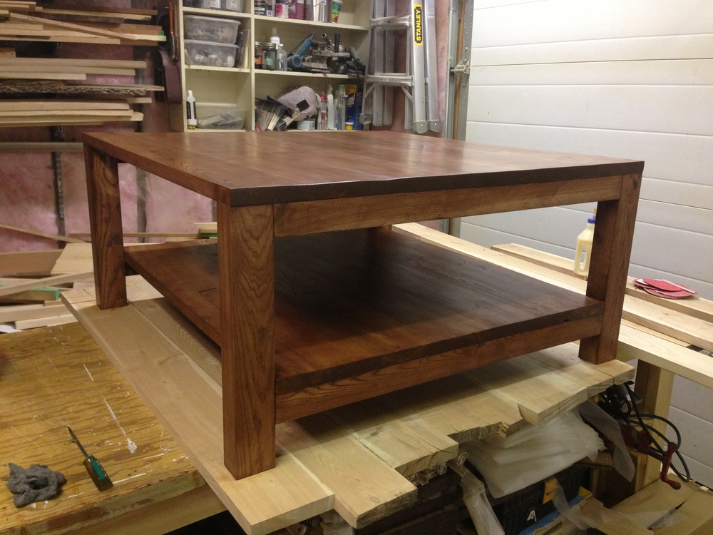 Custom handmade rustic coffee table one of a kind made in Saskatchewan by Oleson Woodshop.jpg