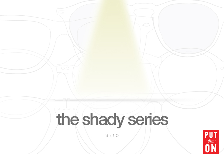 Just making sure you finished reading part three before we hit you with lucky number four tomorrow. Enjoy and look out for more!           The Shady Series, Part III:  Models to Consider             via  putthison