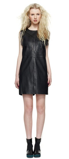 Home run leather dress
