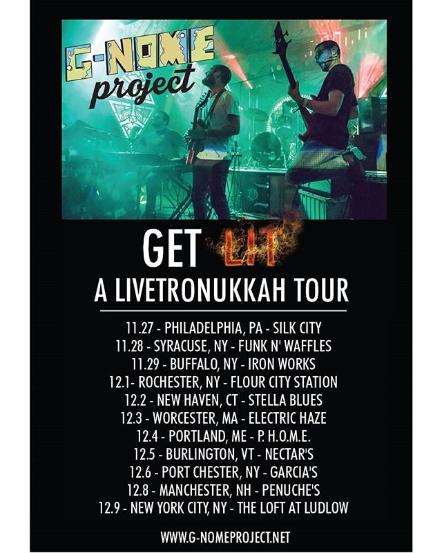 Super excited to announce our return to the States in 6 weeks!!! 11 Shows in 13 days. Y'all ready to get lit? 🔥🕎🔥 #Livetronukkah