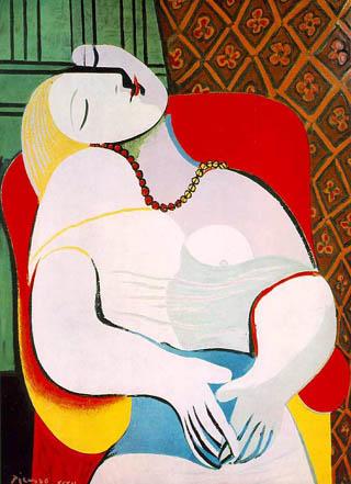 De droom (let op haar borst, de plaats van haar handen, en de phallus in haar hoofd...)