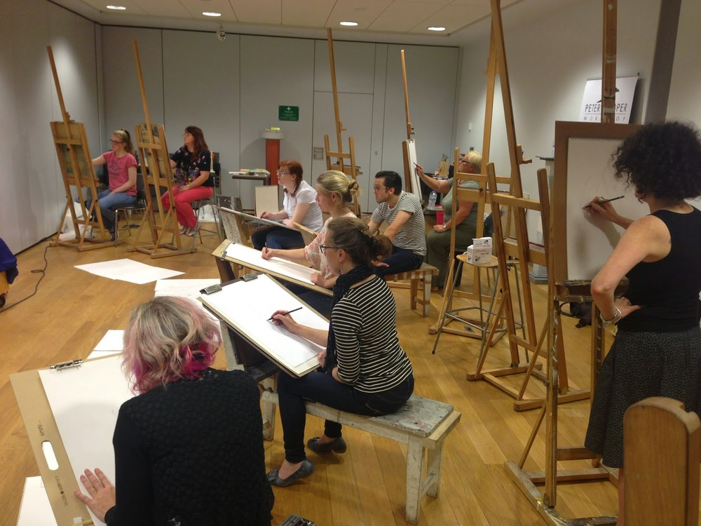 One of my figure drawing workshops