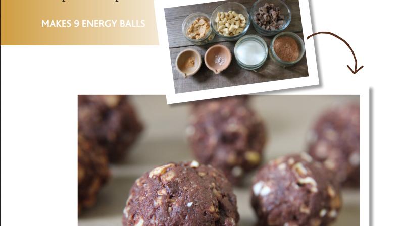 Cashew cocoa energy balls
