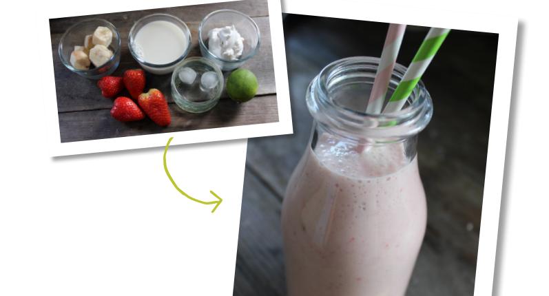 Strawberry cream smoothie