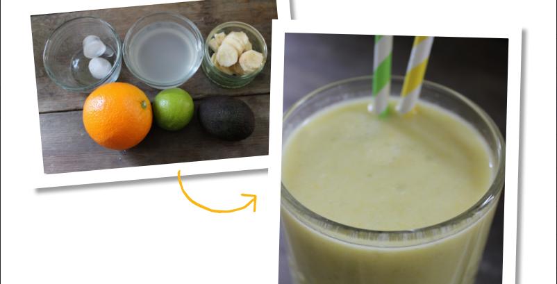 Avocado & orange smoothie