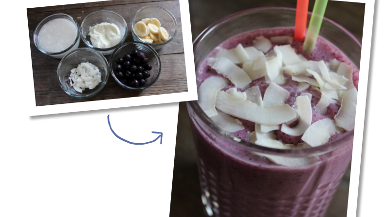 Blueberry & coconut smoothie